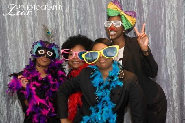 The Perfect Planning team having fun in the photobooth!